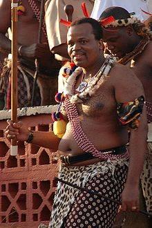 Sa Majesté  Mswati III, roi de  Swaziland