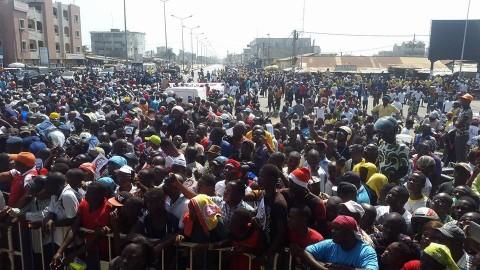 marche de l'opposition a Cotonou dec 2014