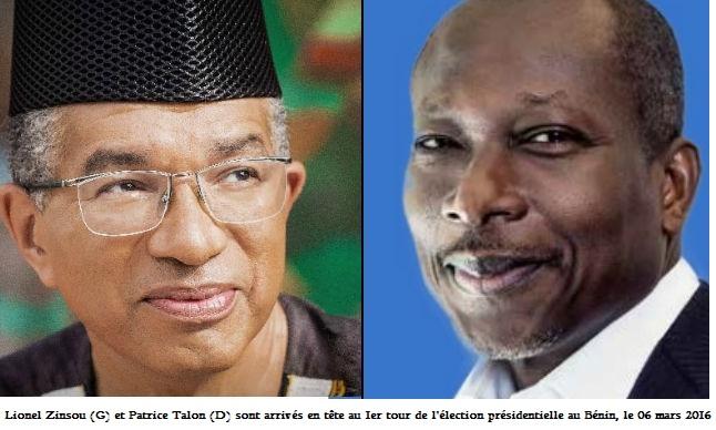 Lionel Zinsou et Patrice Talon